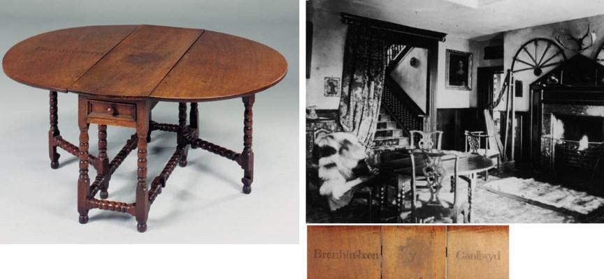 AN OAK GATELEG TABLE, WELSH, E