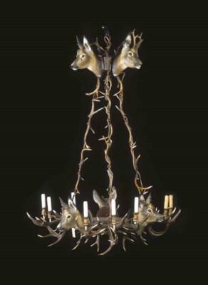 eine geweih lampe christie 39 s. Black Bedroom Furniture Sets. Home Design Ideas