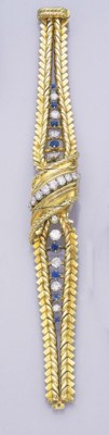 A GOLD, SAPPHIRE AND DIAMOND W