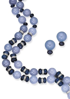 A SUITE OF SAPPHIRE, CHALCEDON
