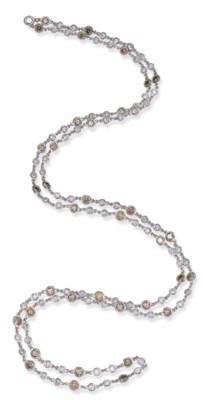 A DIAMOND COLLET NECKLACE