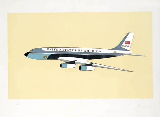 'AIR FORCE ONE', A LITHOGRAPH