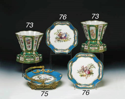 A PAIR OF SEVRES SOFT PASTE CA