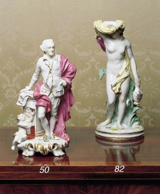 A FRENCH PORCELAIN FIGURE OF A