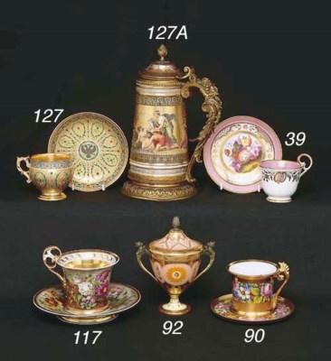 A RUSSIAN IMPERIAL PORCELAIN F