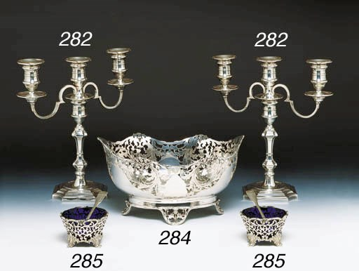 A PAIR OF VICTORIAN STERLING S