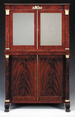 A CLASSICAL MAHOGANY VENEERED