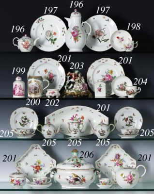 A MEISSEN OUTSIDE-DECORATED TA