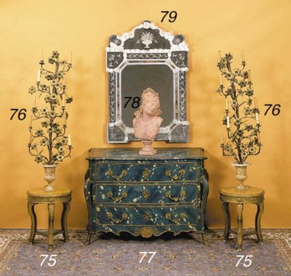 PAIR OF FRENCH ORMOLU AND CAST