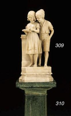 An Italian alabaster figure gr