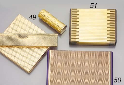 A GROUP OF GOLD ACCESSORIES, B