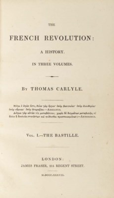 CARLYLE, Thomas (1795-1881). T