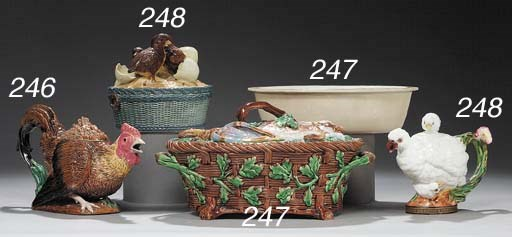 A MINTON GAME PIE DISH, COVER
