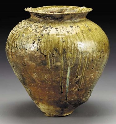 A Massive Stoneware Jar