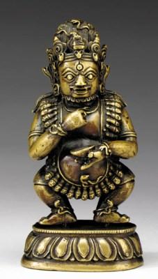 A Small Bronze Figure of Mahak