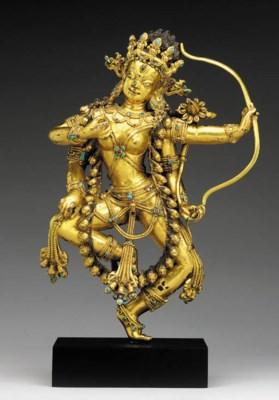 A Gilt Bronze Figure of Kuruku