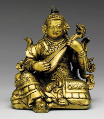 A Gilt Bronze Figure of Lokapa