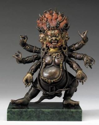 A Bronze Figure of Mahakala