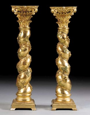 A PAIR OF ITALIAN BAROQUE STYL