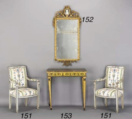 A PAIR OF DIRECTOIRE GREY-PAIN