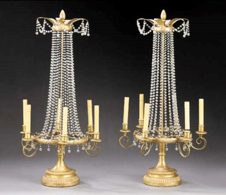 A PAIR OF RESTAURATION STYLE G