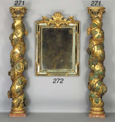 A PAIR OF SPANISH BAROQUE PARC