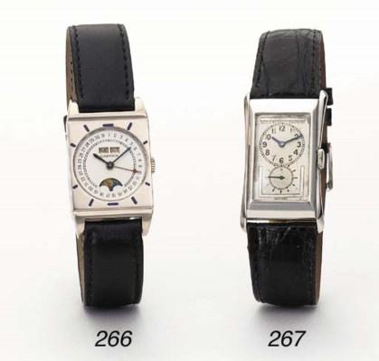 Rolex. A fine and rare platinu