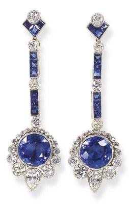AN ATTRACTIVE PAIR OF SAPPHIRE