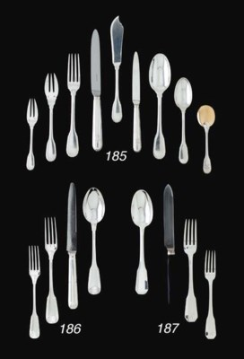 A BELGIAN SILVER TABLE SERVICE