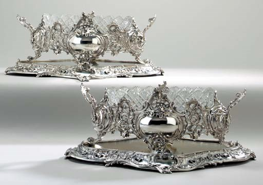 A PAIR OF CONTINENTAL SILVER J