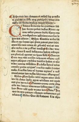 Dialogus inter clericum et mil