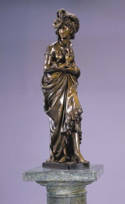 A French bronze figure of an 1