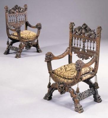 A pair of Florentine Renaissan