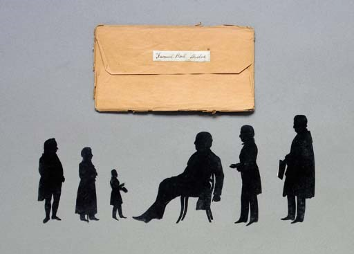 A GROUPING OF CUT SILHOUETTES