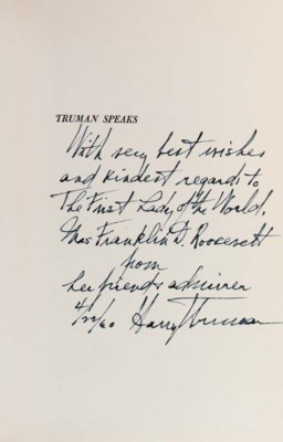 TRUMAN, Harry S. Truman Speaks
