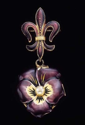 Swiss. A sterling silver, gilt