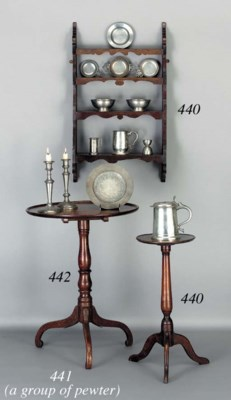 A GROUP OF PEWTER OBJECTS