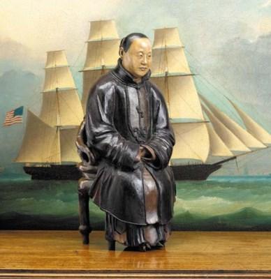 A RARE CHINA TRADE FIGURE OF A