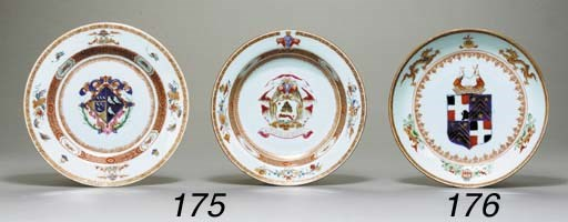 AN IRON-RED AND GILT ARMORIAL
