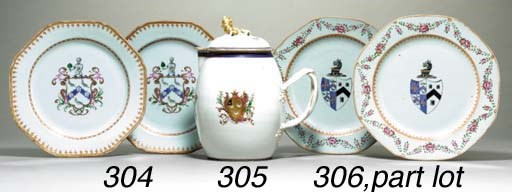 AN ARMORIAL CIDER JUG AND COVE