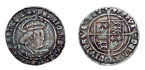 Henry VIII, Groat, 2.81g., sec