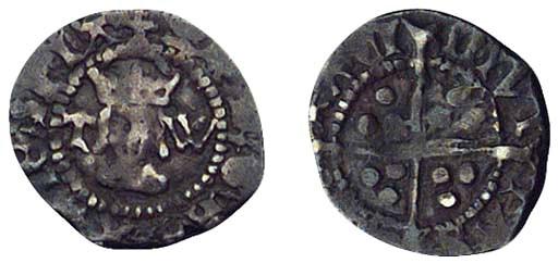 Henry VIII, Halfpenny, 0.45g.,