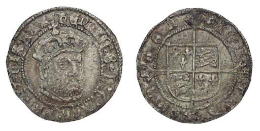 Henry VIII, Groat, third coina