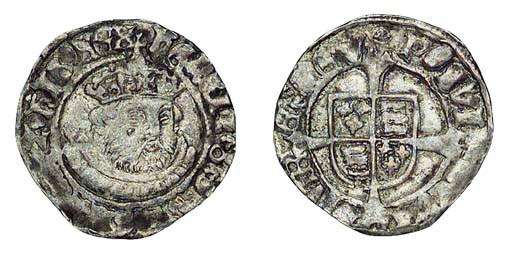 Henry VIII, Halfgroat, third c
