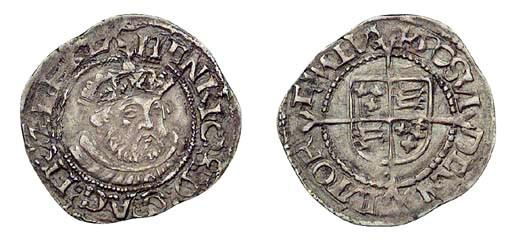 Henry VIII, Halfgroat, 1.26g.,