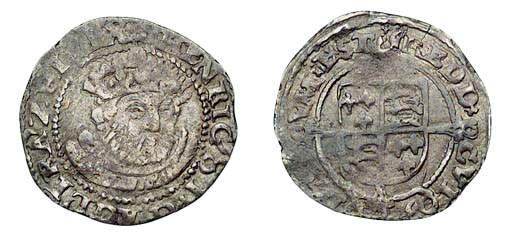 Henry VIII, Halfgroat, 1.03g.,