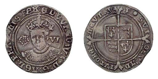 Edward VI, Sixpence, 2.86g., t