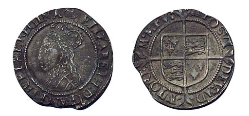 Elizabeth I, Halfgroat, third