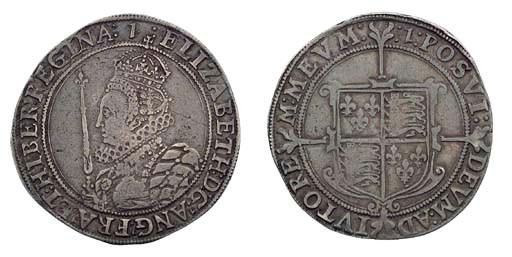 Elizabeth I, Halfcrown, sixth