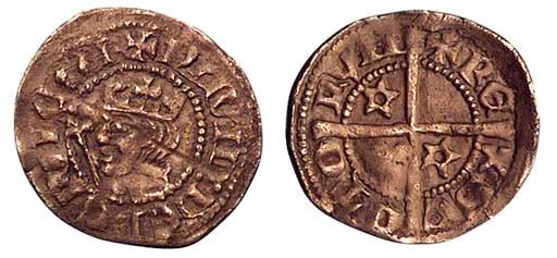 David II (1329-71), Halfpenny,